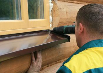 Как сделать отлив на деревянное окно 536